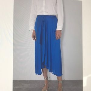 Zara Asymmetrical Satin Skirt